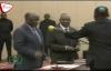 Rais Magufuli alivyompongeza Mzee Malechela baada ya mkewe kuchaguliwa mkuu wa mkoa.
