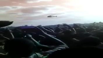 Lowassa akishuka na helcopter